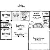 3 Bedroom, 2 Bath Country House Plan – #ALP-09TW – Allplans.com  – Floor plans