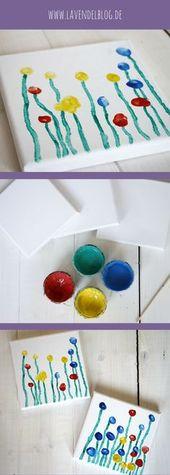 DIY-Idee: Eine Blumenwiese aus Fingerabdrücken – Lavendelblog