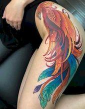 47 Vintage Phoenix Tattoo Design Ideas For Women