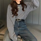 IndiGirl Long-Sleeve Striped T-Shirt at YesStyle ….