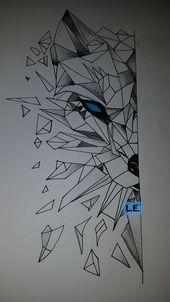 Neueste Sachen von mir # 3D #Wolf #Zeichnen