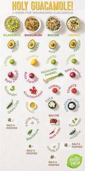 Für Avocado-Liebhaber: Guacamole x 4