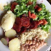 🍽Almoço: Arroz Integral, Feijão, Salsicha, Batata Doce Assada, Purê de 1cs  – Salads