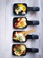 25 Recetas de Raclette: ¡Sartenes pequeñas, muy grandes!   – leicht und lecker