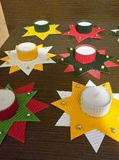 Christmas Cards Crafts With Children Beautiful Candle Holders Crafts For Christmas … – Christmas Crafts With Children Kita – Water