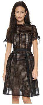 9b7c14245a33 self-portrait Aurelia Dress - Tradesy Geometric Embroidery, Style Matters,  Short Sleeve Dresses