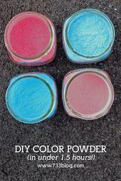 Fast Diy Color Powder Recipe For Neighborhood Color Runs And Color Wars Powder Gender Reveal Color Powder Color Run Powder