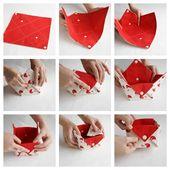 Fabric Storage Organizer Basket – Origami-Box-Organizer – Schreibtisch-Organizer-Bin   – Patchwork