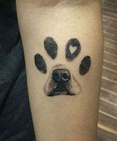 Hervorragende Tatzendruck-Hundetätowierungs-Designs auf dem Arm, um Ihre Tinten… #diybesttattoo – diy best tattoo