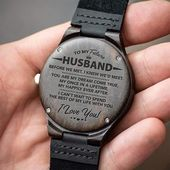 Engraved Wooden Watch – Great Gift For Your Husband