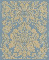 Tapete Graham /& Brown Artisan Barock blau Glanz-Effekt 33-332 6,50€//1qm