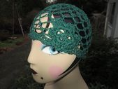 "Girl's Green Cotton Cloche Hat Crocheted by SuzannesStitches, Girl's Formal Green Cloche, Teen's Formal Green Cloche, Women's Formal Cloche – ""Hats"""
