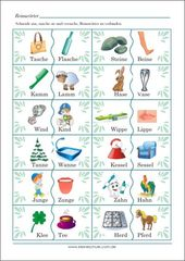 Rhyming words picture cards – learning cards for preschool …