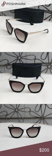 Black and Gold Prada 53SS 52 Sunglasses Prada sunglasses gently used. A few salt… – My Posh Picks