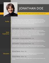 Free Fancy Resume Templates Typographic  Tools & Mktg  Pinterest  Cv Resume Template