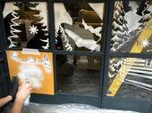Asda Snow Spray 2 150×150 Festive window display in Snow Spray!