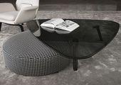 SULLIVAN – Contemporary coffee table / wooden / glass / aluminum by Minotti | ArchiExpo
