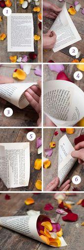 Hochzeit mit Streublumenregen – Streublumen Tüten selber machen