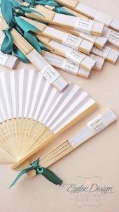 matrimonio d'estate: #ventagli in carta e legno decorati con nastri colorati tem… – Modern