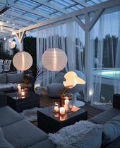 Gartenideen # Garten # Ideen #terracedesign #garten # Ideen #terracedesign
