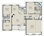 Craftsman Style House Plan 3 Beds 2 Baths 1550 Sq Ft Plan 427 5 Ranch House Plans Craftsman Style House Plans House Floor Plans