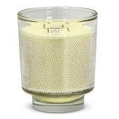 """CRYSTAL CANDLES: Egizia Argento Glass Maxie """"DOTTINO"""" Design ~ Acqua di Mare scent [36 Oz]"""