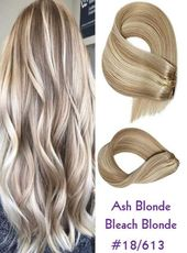 18/613 Ash Blonde Mix Thick Deluxe & Standard Clip In Real Remy 100% Human Hair Extensions Long Full