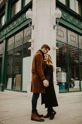 Loved this cute couple session in downtown Detroit!  michigan wedding photograph…