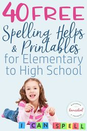 40 FREE Spelling Helps & Printables for Elementary to Excessive Faculty