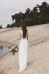 Spitze Brautkleid und fließende Stoffe Brautkleid Boho Vintage Braut …   – Tamtamtamtam…