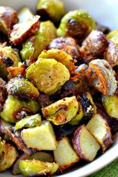 Roasted Brussel Sprouts and Potatoes Recipe   – Blake