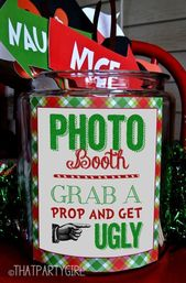 Ugly Sweater Party Photo Booth Props Package, Ugly Sweater Party, Ugly Sweater P… – Weihnachten