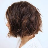 #Beneficial #Hair #Haircuts #Length #Thick Messy Bob für dickes, grobes Haar