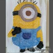 #minion #string #artMinion string art   – nagel-holz