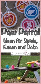 Paw Patrol Party – ein Kindergeburtstag mit den Hunden der beliebten Serie, Idee …   – Kindergeburtstag