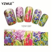WUF 1Pcs Nail Art Water Sticker Nails Beauty Wraps Foil Polish Decals Temporary …