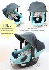 Sonnenschirm – Sonnenschutz für Babyschale und Kinderwagen annähen – Freebook   – Nähanleitungen lila-wie-liebe