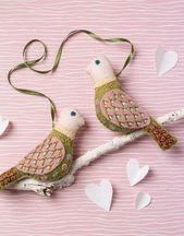 Liebesvögel bestickt Filz Bastelset von Corinne …