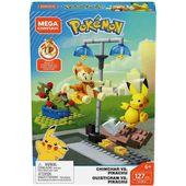 Mega Construx Pokemon Chimchar gegen Pikachu Battle Pack   – Products
