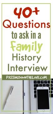 Free Printable 40+ Household Inquiries to ask about Household Historical past.