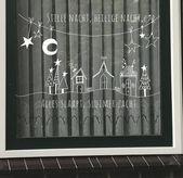 Stille Nacht, Weihnachtslied auf Fenster, Weihnachtsfensterzeichnung, Weihnachtskreide-Markierungszeichnung, Weihnachtsdekoration, Weihnachtsgeschenk, Winterfensterdekoration   – Europalette