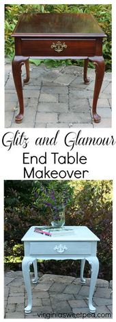 Glitz and Glamour End Table Makeover