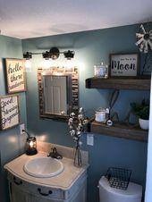 42 beste Bauernhaus-Badezimmer gestalten Dekorideen um