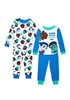 Baby Shark Baby Boys 4-Piece Cotton Pajama Set
