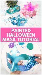 DIY lernen, wie man eine handgemachte Halloween-Kostüm-Maske mit diesem einfachen Schritt durch S …