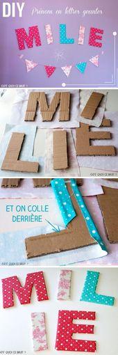 Tuto DIY : Les lettres prénom en tissu pour personnaliser sa chambre !