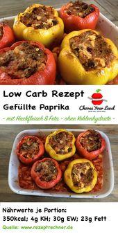 Low Carb Rezept: Gefüllte Paprika – CYL Rezepte – Low Carb Gerichte