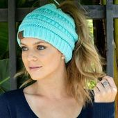 (50% OFF – TODAY ONLY) Soft Knit Ponytail Beanie