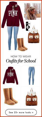 """me at school"" by aye-its-angie on Polyvore featuring UGG Australia, T-shirt & J…"