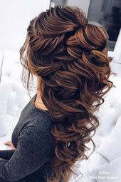 20 long wedding hairstyles for the bride of Elstiles